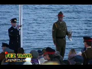 View our ANZAC Day at Gallipoli, Dawn service at ANZAC Commemorative site. [1:58]
